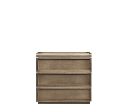 Orione is a wooden bedside table with drawers from the Promemoria's catalogue | Promemoria