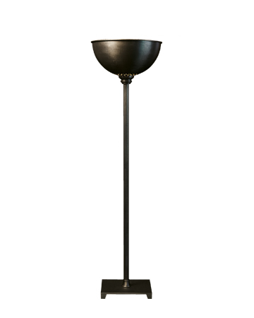 Charlotte is a floor LED lamp in bronze with methacrylate diffuser, from Promemoria's catalogue | Promemoria