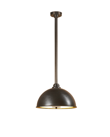 Charlotte is a hanging bronze LED lamp with a methacrylate diffuser, from Promemoria's catalogue | Promemoria