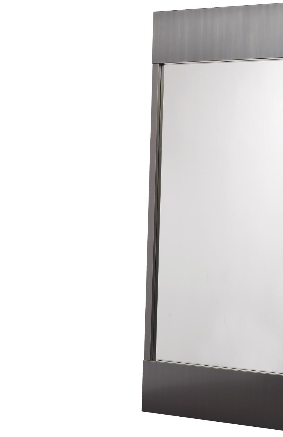 Euridice挂镜采用简约设计和青铜结构,请参见Promemoria产品目录 Promemoria