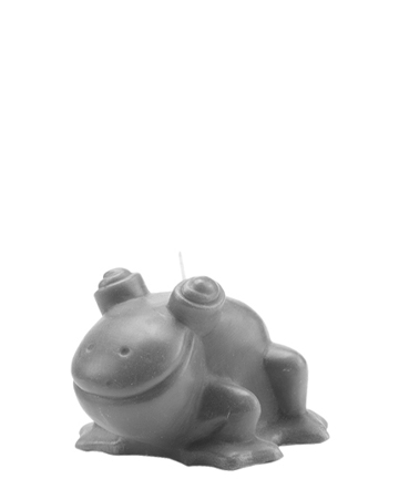Rana Candela is a candle shaped like a frog, Promemoria's mascot, available in several colors, from Promemoria's catalogue | Promemoria