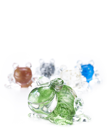 Rana in Vetro di Murano is a Murano glass frog, Promemoria's mascotte, available in several different colors, from Promemoria's catalogue | Promemoria