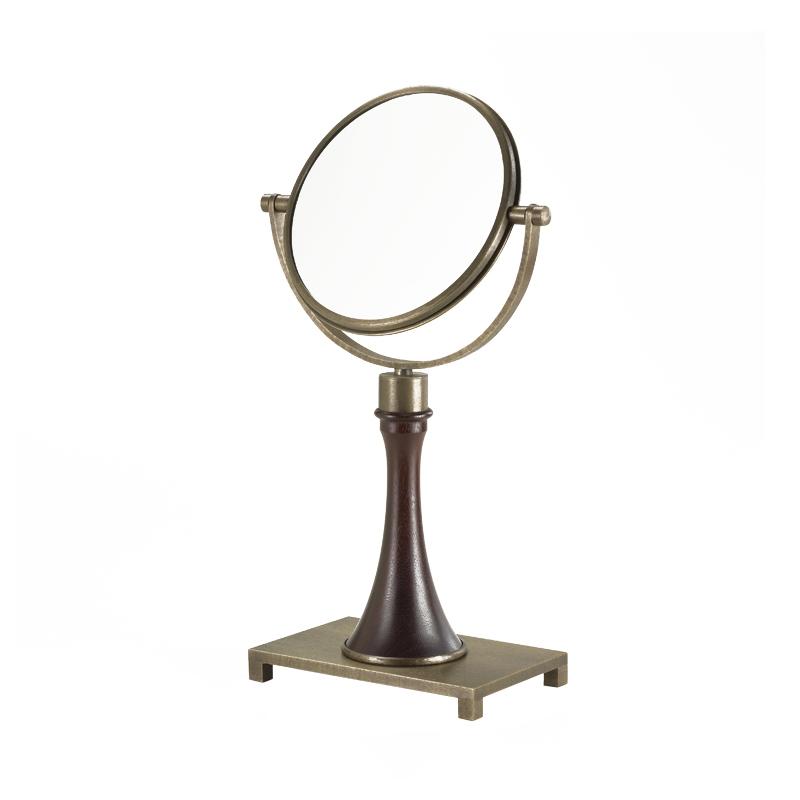 Geraldine是一款双面可倾斜梳妆镜,木质和铜质结构,请参见Promemoria产品目录|Promemoria