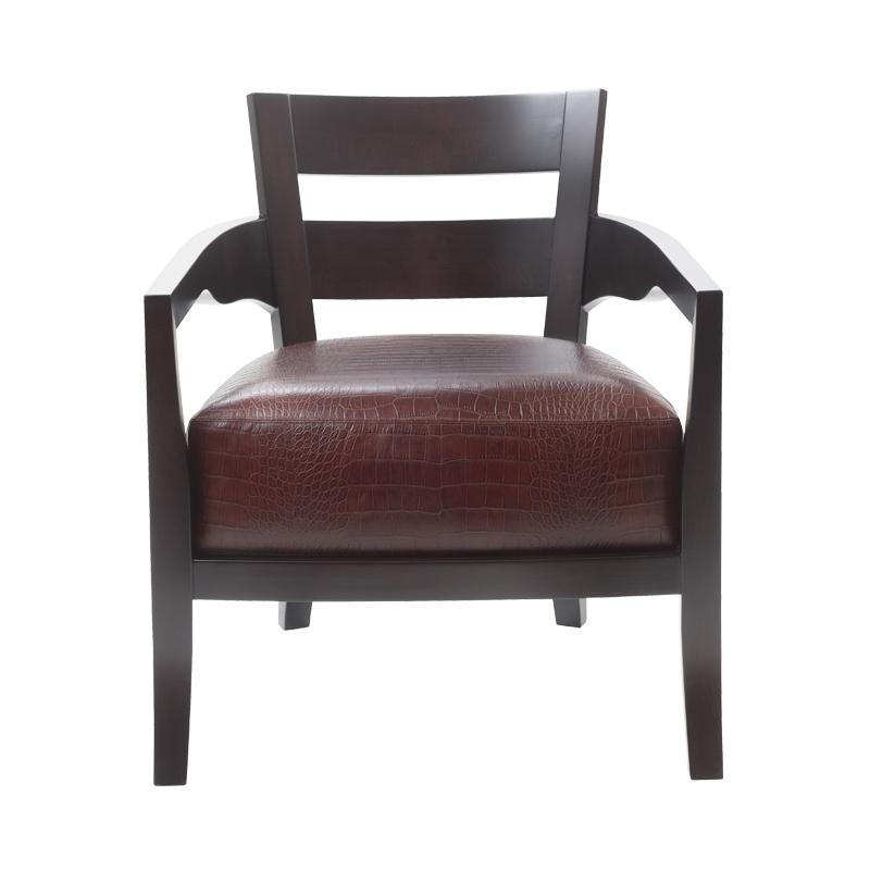 Africa是一款以织物或皮革包衬的木质扶手椅,请参见Promemoria产品目录 Promemoria