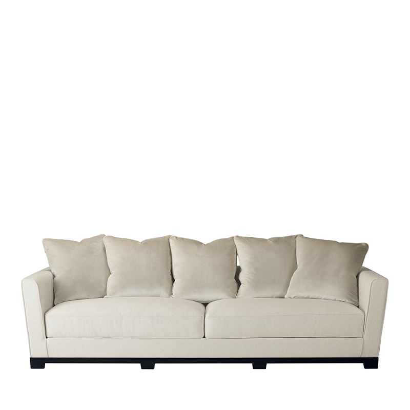 Wanda木质沙发以织物包衬,请参见Promemoria产品目录|Promemoria
