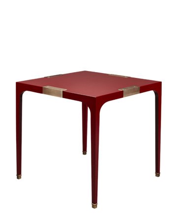 DC Table is a semi-gloss dining table with bronze details, from Promemoria's The London Collection | Promemoria