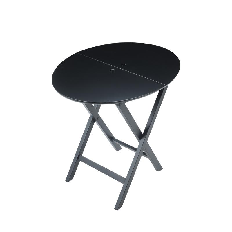 Battista实木折叠桌亦可以皮革包衬,请参见Promemoria产品目录   Promemoria