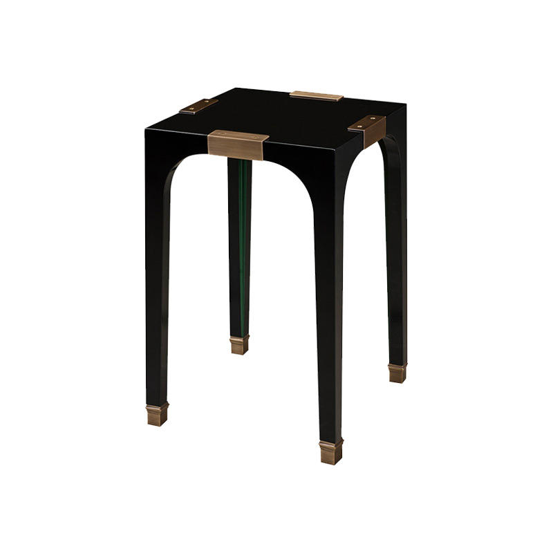 DC Table is a semi-gloss small table with bronze feet and details, from Promemoria's The London Collection | Promemoria