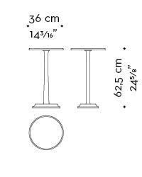 Dimensions of Françoise, a bronze small table from Promemoria's catalogue | Promemoria