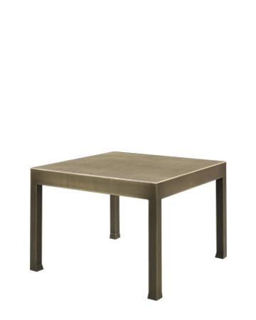 Gong青铜小桌配有玻璃桌面,请参见Promemoria产品目录 | Promemoria