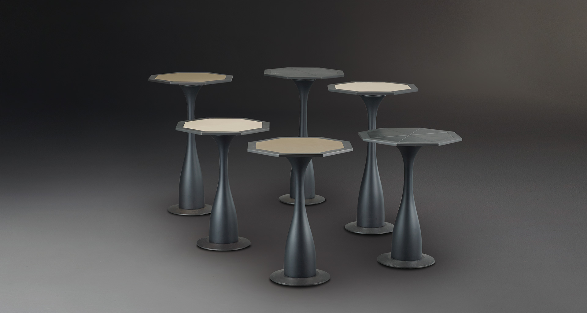 Ikò is a wooden and bronze small table shaped like a flower, from Promemoria's catalogue   Promemoria