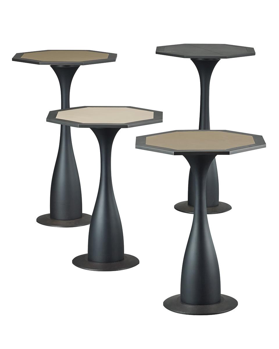 Ikò是一款以实木和青铜制成的小桌,形如一朵花,请参见Promemoria产品目录   Promemoria