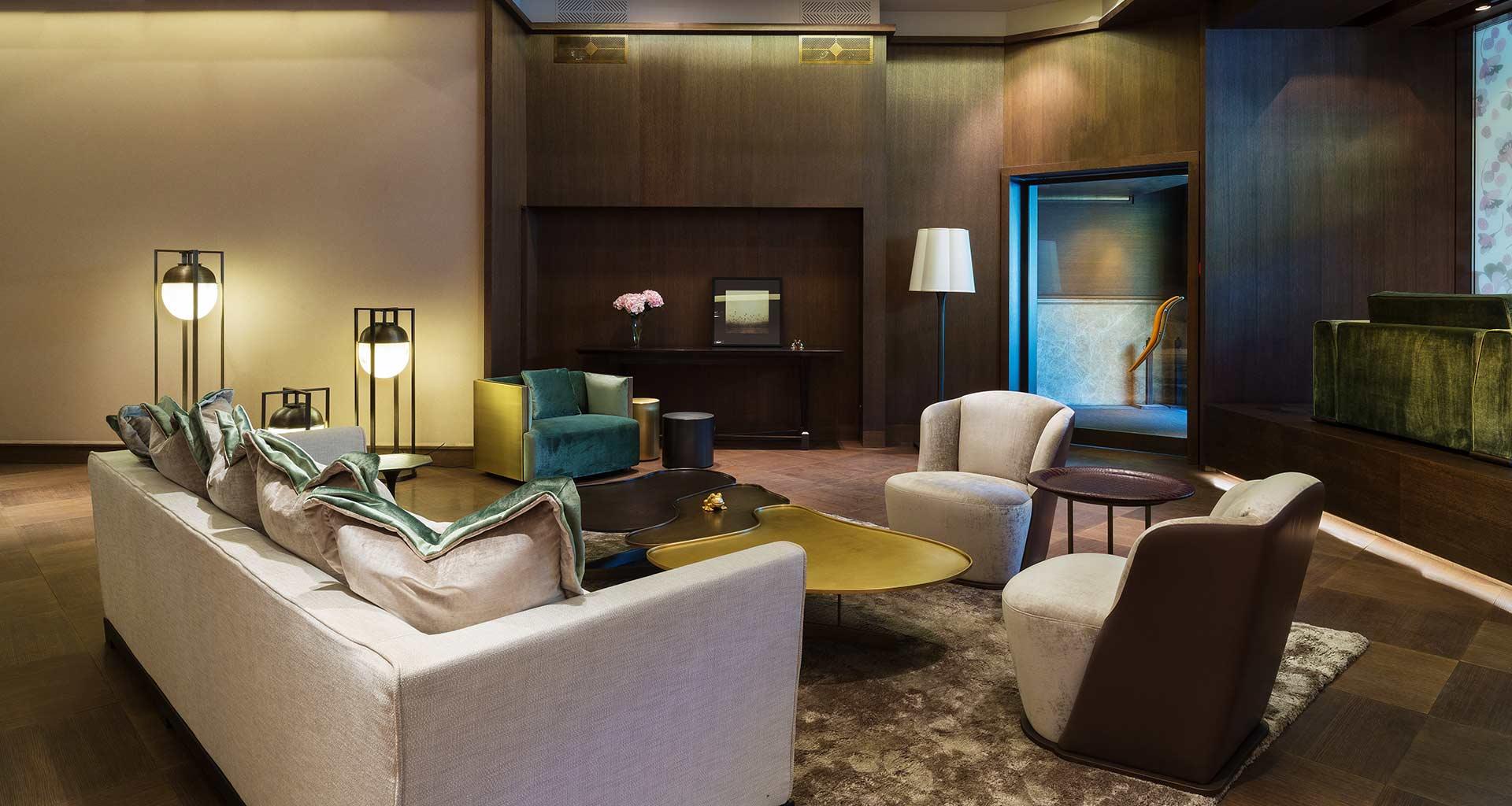 Living room in Promemoria's single-brand showroom in Moscow | Promemoria