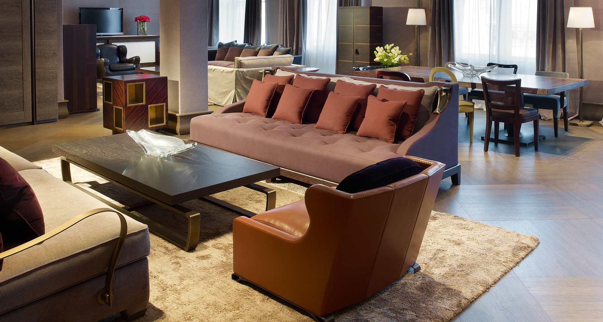 Living room in Promemoria's single-brand showroom in New York | Promemoria